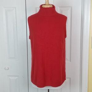 4/$25 Fashion Bug red sleeveles turtleneck sweater